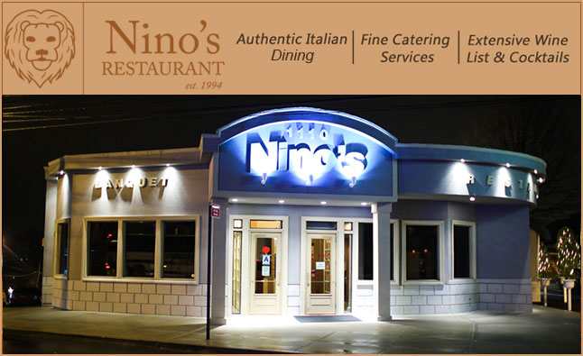 Welcome To Nino S Restaurant Where Authentic Italian Food Is Our Specialty Relax In Smartly Ointed Dining Room While Enjoying A Gl Of Wine From